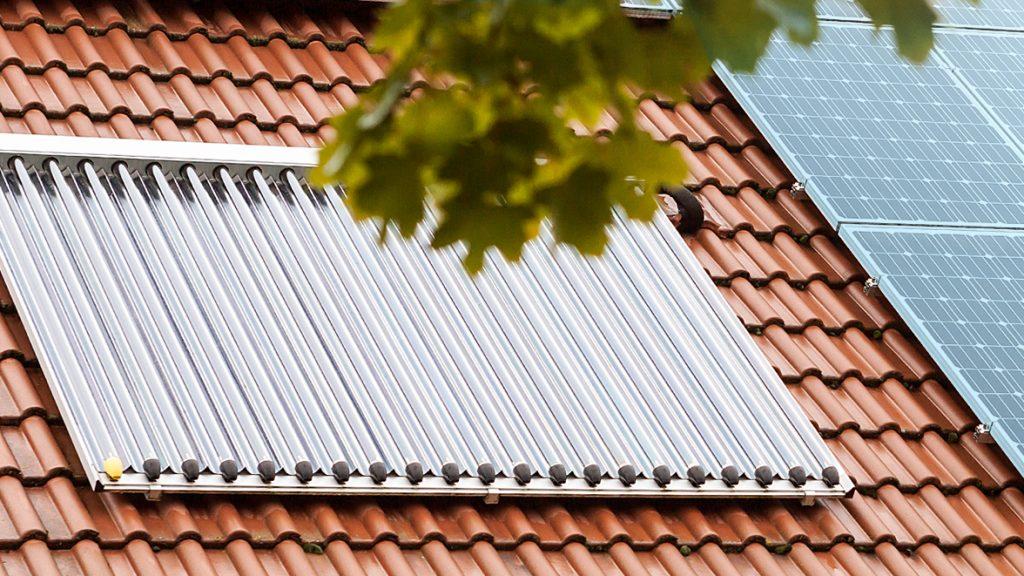 Energieeffiziente Solarthermieanlage.